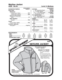 Adult's Skyline Jacket Pattern - 506 - The Green Pepper Patterns