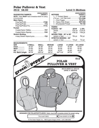 Adult's Polar Pullover & Vest - 512 - The Green Pepper Patterns