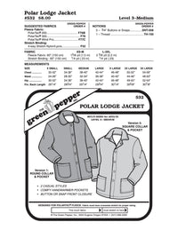 Adult's Polar Lodge Jacket Pattern - 532 - The Green Pepper Patterns
