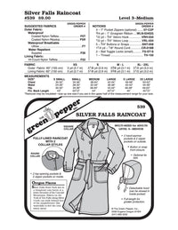 Silver Falls Raincoat Pattern - 539 - The Green Pepper Patterns