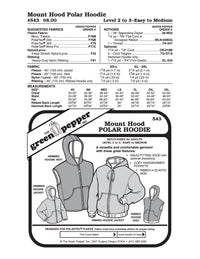 Adult Mount Hood Polar Hoodie Pattern - 543 - The Green Pepper Patterns