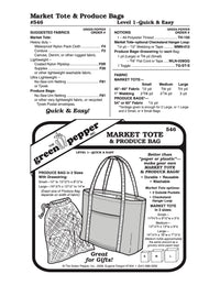 Market Tote & Produce Bag Pattern - 546 - The Green Pepper Patterns