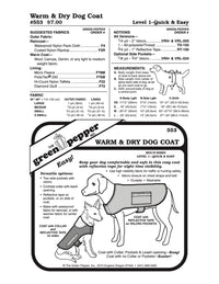 Warm & Dry Dog Coat Pattern - 553 - The Green Pepper Patterns