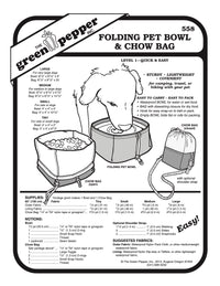 Folding Pet Bowl & Chow Bag Pattern - 558 - The Green Pepper Patterns