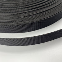 "5/8"" Medium Weight Nylon Webbing - Black - By The Yard/36"""