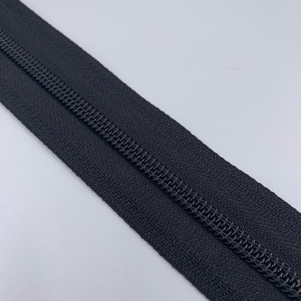 #5 Coil Zipper - Black - By The Yard