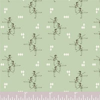Arabesque - Mint - Piroulette - Arleen Hillyer - Birch Fabrics - Knit