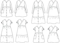 Anna Dress Sewing Pattern - Girl 3/12Y - Ikatee