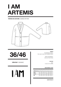 I am ARTEMIS (Ladies) - Coat Pattern -  I AM PATTERNS
