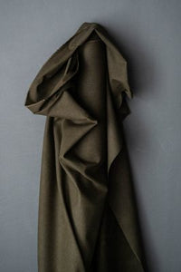 Flax Cotton British Dry Oilskin - Archive Olive - Merchant & Mills