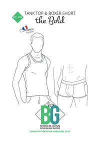 The Bold - Underwear Set - Mens Sewing Pattern - Patrons Les BG