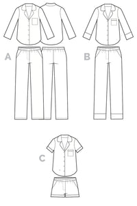 Carolyn Pajama Pattern - Closet Case Patterns