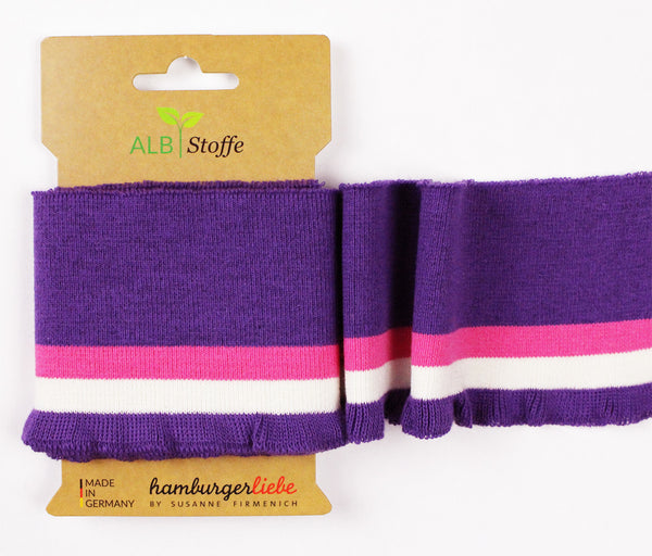 Cuff Me - Purple/Pink/White - Frill - THIS SUMMER by Hamburger Liebe & Albstoffe - Color 16