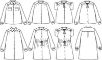 Alex Blouse & Dress Sewing Pattern - Girl 3/12Y - Ikatee
