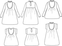 Ida Blouse & Dress Sewing Pattern - Girl 3/12Y - Ikatee