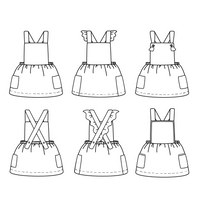 Milano Dress Sewing Pattern - Girl 3/12Y - Ikatee