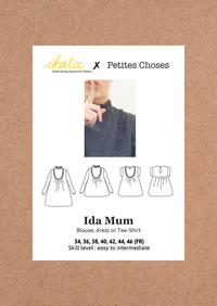 Ida Mum Blouse & Dress Sewing Pattern - Ladies 34/46 - Ikatee