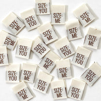 """SIZE: ME/YOU"" Reversible Woven Label Pack - Kylie And The Machine"