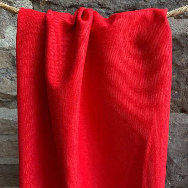 Organic Cotton Canvas 12oz - Fire Engine Red