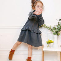 Lilas Blouse, Top & Dress Sewing Pattern - Girl 3/12Y - Ikatee