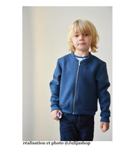 Jules Bomber Jacket / Vest Sewing Pattern- Kids 3/8Y - Ikatee