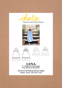Lena Blouse & Dress Sewing Pattern - Girl 3/12Y - Ikatee