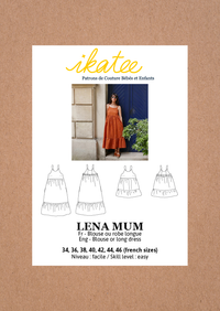 Lena Mum Blouse & Dress Sewing Pattern - Ladies 34/46 - Ikatee