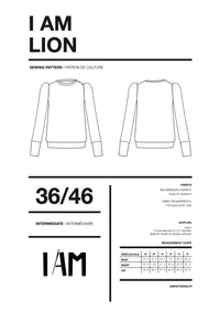 I am LION - Puff Sleeve Sweatshirt Pattern -  I AM PATTERNS