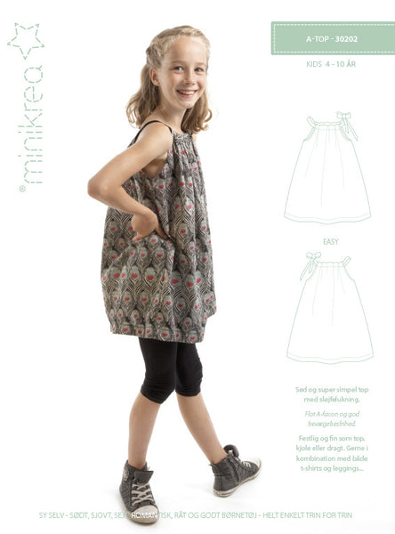 A- Top - 30202 - Minikrea sewing pattern - 4-10 yr (4823.90.00.95)