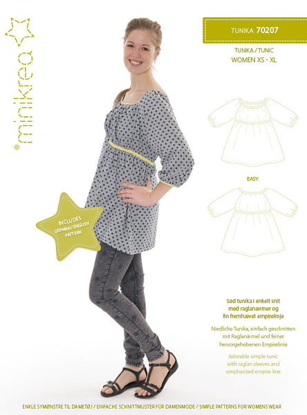 Tunic Top - 70207 - Minikrea sewing pattern - adult xs-xl (4823.90.00.95)