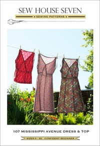 The Mississippi Avenue Dress & Top Sewing Pattern - Sew House Seven