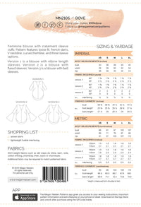 Dove Blouse - Megan Nielsen Patterns - Sewing Pattern