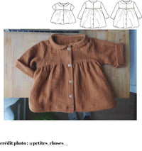 Stockholm Blouse & Dress Sewing Pattern - Baby Girl 6M/4Y - Ikatee