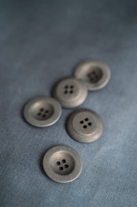 Grey - Corozo Button - Merchant & Mills - 18mm & 22mm
