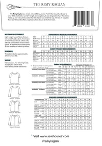 Remy Raglan Top Sewing Pattern - Sew House Seven