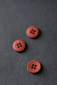 Brick - Speckles Recycled Button - Merchant & Mills - 18mm
