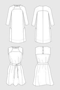Rushcutter Dress Pattern - In The Folds