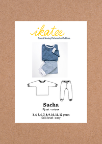 Sacha PJ Set Sewing Pattern - Kids 3/12Y - Ikatee