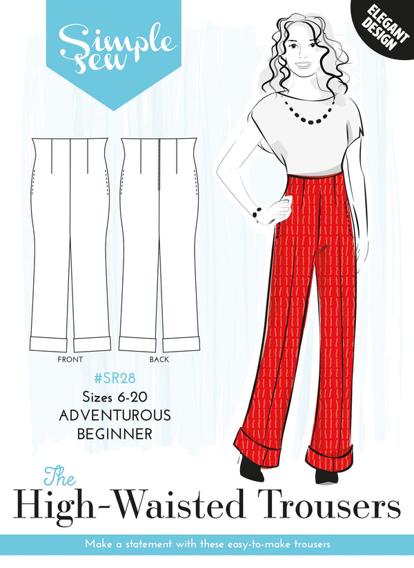 The High-Waisted Trousers - Simple Sew - Sewing Pattern