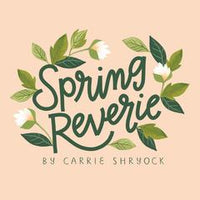 Orchard Lane Black - Spring Reverie by Carrie Shryock - Cloud 9 Fabrics - Rayon