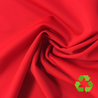 Repreve® Recycled Polyester Spandex Jersey - Red - 205gsm