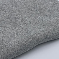 1x1 Organic Cotton / Recycled PET Baby Rib - Grown & Made in USA - Heather Grey