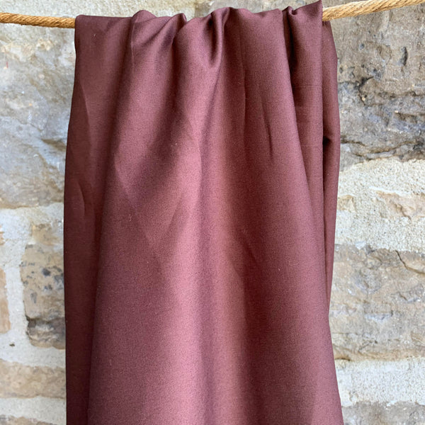 Brown - Simplifi Fabric - Organic Cotton Solid Poplin
