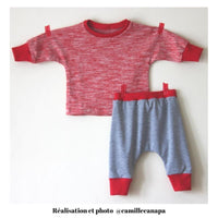 Cordoba Jogging or Pyjama Set Sewing Pattern - Baby Boy & Girl 1M/4Y - Ikatee