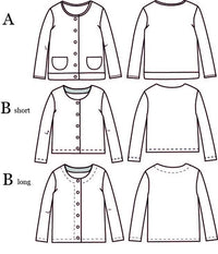 Vic Mum Cardigan Sewing Pattern - Ladies 34/36 - Ikatee