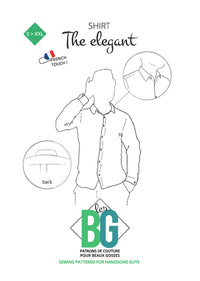 The Elegant - Dress Shirt - Mens Sewing Pattern - Patrons Les BG