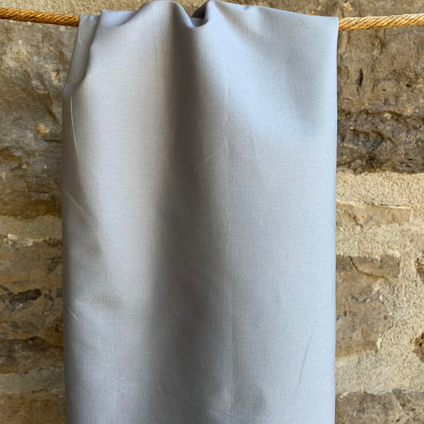 Grey - Simplifi Fabric - Organic Cotton Solid Poplin