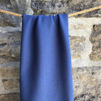 Organic Cotton Waffle / Thermal 200gsm - Mid Blue 18