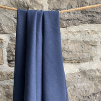 Organic Cotton Flannel 155gsm - Navy