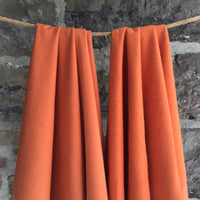 Bamboo Organic Cotton Stretch Fleece - 280gsm - Pumpkin